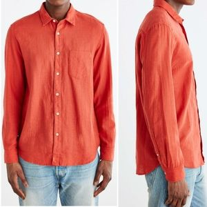 Urban Outfitters Burnt Orange Button Down Shirt